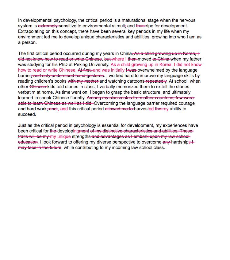 law school personal statement editing  proofreading  essayedge sample essay